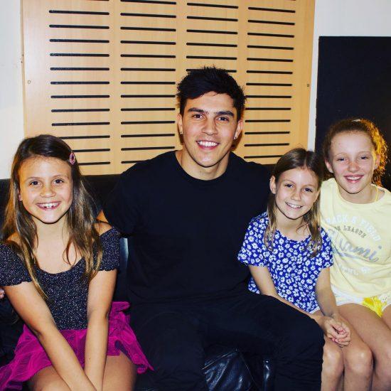 Jesse Teinaki from The Voice at Popstar Kidz School Holiday Workshop Gold Coast Australia